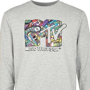 Grey Marl MTV Print Sweater (exclusive)